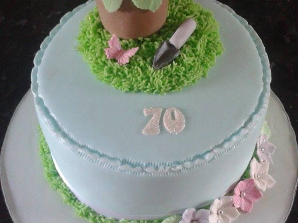 Gardening Theme Cake For A Ladies 70Th Birthday