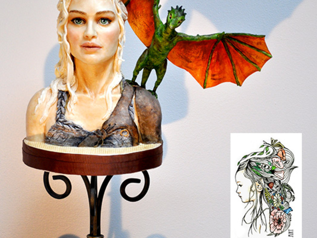 daenerys targaryen bust i made this bust as a reference practice daenerys targaryen bust i made this bust as a reference practice piece khaleesi made from modeling chocolate the head has a styrofoam ba cakecentral com