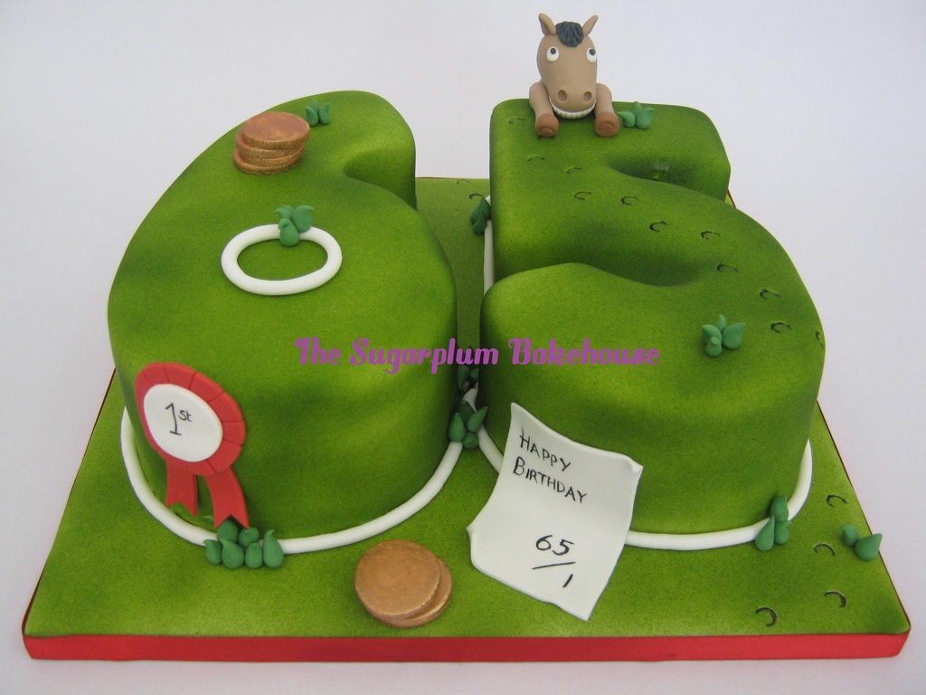 Horse Racing Themed 65th Birthday Cake Cakecentral Com