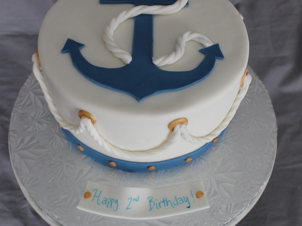 Nautical Themed Birthday Cake Cakecentral