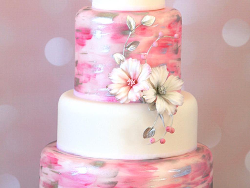 Cosmos Wedding Cake - CakeCentral.com