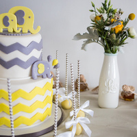 Chevron Baby Shower All edible , Cake .. Photo by Glyph studio