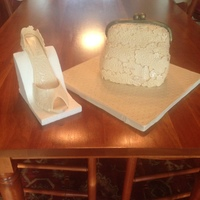 Purse Cake   Scultured Purse cake with Matching Heel