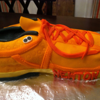 Newton Running Shoe Surprise 40th birthday cake for our running buddy and great friend! This is his favorite shoe.