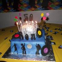 Disco 50Th Birthday Cake Records Are Made Out Of Gumpaste Disco 50th birthday cake. Records are made out of gumpaste.