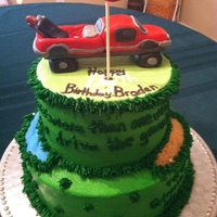Golf/truck Birthday Cake This special cake was requested by an aunt for her much loved nephew. She wanted to include his truck and golf, two of his favorite things...