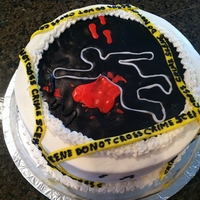 Karaoke Murder Mystery Cake Karaoke Murder Mystery cake, for one of those murder mystery parties. Red velvet cake, cream cheese filling and buttercream frosting....