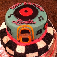 50's Jukebox Golden Oldie Birthday Cake Surprise! I have to say, it was SO MUCH FUN to make this cake for my mom, in secrecy, then drive it over to her work (a 1 hour drive mind...