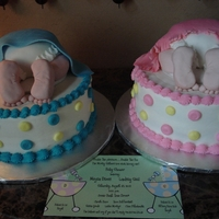 Baby Bum Cakes Two sisters, one having a girl, and the other having a boy. Baby bums