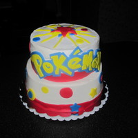 Pokemon  Just getting back to making some cakes again. The customer wanted Pokemon with starts and polka dots. She is going to add plastic figures...