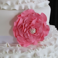 Frilled Flowers And Ribbon