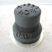 All Black Fondant Cake Letters Are Dusted With Black Disco Dust All black fondant cake. Letters are dusted with black disco dust