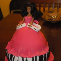 Doll Cake WASC for doll and Strawberry for bottom tier. All buttercream and fondant.