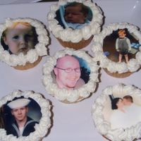 Dh's Birthday Cupcakes DH turning 30 and it is just us so I made cupcakes with pics of different points in his life.