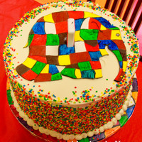 Elmer The Elephant This was a multi layered Rainbow cake, when we cut into the cake the kiddos couldn't believe what they were seeing. The Elephant is...