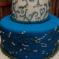 Blue And White Wedding Cake Super Chocolate Cake And Cream Cheese Frosting Blue and White Wedding Cake, Super Chocolate Cake and Cream Cheese Frosting
