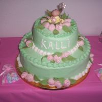 Baby Shower Baby shower cake....inspired by Cakemommy's.....in buttercream with strawberry filling...