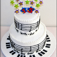 Happy Birthday Music Notes Cake I saw this general design someone else did. My daughter plays the piano, and she loved the base keyboard, so I re-created it the best I...