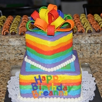 Rainbow Birthday Cake My daughter wanted rainbows as her theme for her 16th birthday today. She doesn't like buttercream frosting and I wasn't...