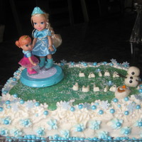 It's A Frozen Birthday Of Course! It's a Frozen birthday of course! The pond is hard stage candy! Was simple but fun!!