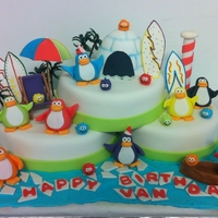 Club Penguin My client sent a pic of a Club Penguin cake done by Jenny Amaya (Peru). She wanted that cake. So, this one is pretty close to what Jenny...