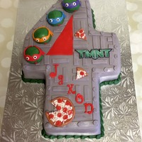 Teenage Mutant Ninja Turtle Cake For A 4Th Birthday   Teenage Mutant Ninja Turtle cake for a 4th birthday!