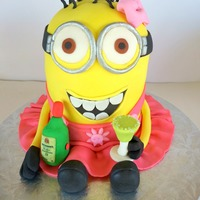 Minion With A Margarita To Celebrate A 21St Birthday   Minion with a margarita to celebrate a 21st birthday!