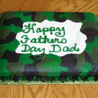 Camo Cake Oreo cake with buttercream icing. This is my first camo cake - Hubby loved it!