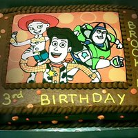 Toy Story Fbct Toy Story Frozen Buttercream Transfer, made to match the birthday party invitations.