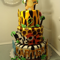 Safari Themed Birthday A birthday cake i did for my nephews 2nd birthday. Thank you yvonnecargile for the idea.