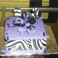 Purple And Zebra Print