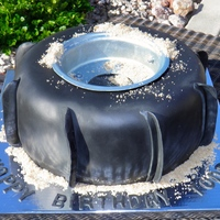 Paddle Atv Tire Hubby is turning 40 and I've never had time to make him a fancy shmancy cake. SO - here is his paddle tire cake for the big 4-0! It is...