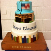 Zaharis Elementary School Curriculum Night Celebration A cake to celebrate curriculum night/back to school/earning an A+ ranking by the state of AZ. The top two tiers are a replicate of the...