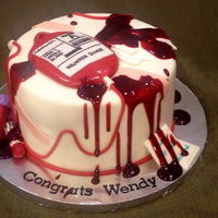 Phlebotomy Graduation Cake I guess, if you're going to be a phlebotomist, you've got to be OK with a little bit of blood. Everything is MMF. (I only wish I...