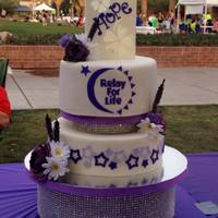 Relay For Life 2014 - American Cancer Society It was an honor to create this cake for the Survivor's Dinner at University of Arizona's 2014 Relay for Life. The top is a...