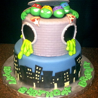 Teenage Mutant Ninja Turtle - Tmnt TNMT with sewer slime and pizza!