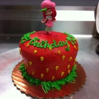 Strawberry Shortcake   small, 4 inch round