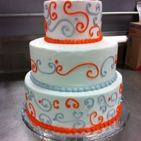 Orange And Silver   butter cream