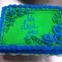 Green And Blue butter cream