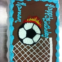 Soccer   chocolate butter cream