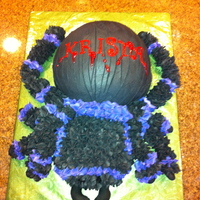 Spider Birthday Cake Chocolate sponge cake with Buttercream and fondant