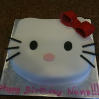 Hello Kitty Pink sponge with Buttercream