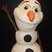 Olaf   After this picture was taken I changed out his buttons and made them smaller.