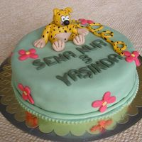 Marsupilami This cake is for my niece's 3rd birthday. Marsupilami is her favorite cartoon :)