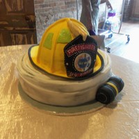 Grooms Cake For A Dfw Firefighter That Married In Springfield All Of The Helmet Is Cake Covered In Fondant Bill And Shield Is Fondant Ref  Grooms cake for a DFW Firefighter that married in Springfield. All of the helmet is cake covered in fondant, Bill and shield is fondant....