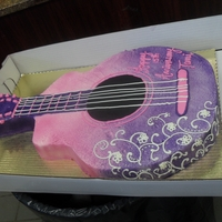 Guitar Customer wanted pretty purple and pink guitar... love my airbrush