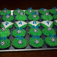 For My Sons Soccer Team I Put Each Players Number On A Cupcake For my son's soccer team. I put each player's number on a cupcake