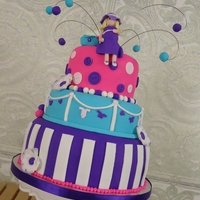 "Pregnant Mom To Be   Fondant cake with bright details. Fondant ""momma to be"" and diaper bag."