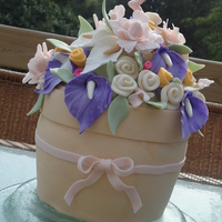 Flower Pot Cake  This was actually a birthday cake for my daughter...though I put it in the bridal shower section. My daughter (turned 3) sees pictures of...