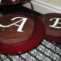 Flourless Chocolate Cakes W/conf.sugar Initials I made these flourless chocolate cakes for my sister's Engagement party. I printed out a large font, cut out with an exacto knife and...